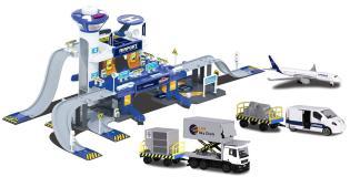 Парковка Lufthansa  Creatix Большой аэропорт + 5 ед. техники Majorette 2050018