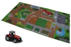 Игровой коврик Creatix Farm нескользящий с машинкой Majorette 2056413