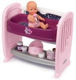 Кроватка для пупса 2 в 1 с регулируемой высотой Baby Nurse 8 акс. Smoby 220353