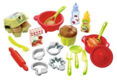 100% Chef Набор детской посуды с продуктами, 26 пр. Ecoiffier 2617