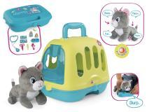 Ветеринарный чемоданчик - переноска с котенком  Smoby 340300