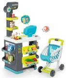 Детский супермаркет City Market с тележкой свет и звук 34акс. Smoby 350212