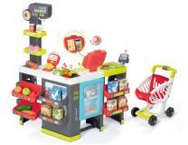 Детский супермаркет MAXI Market с тележкой свет и звук 50акс Smoby 350215