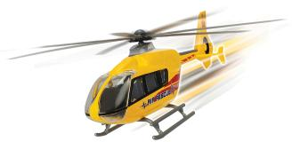 Вертолет EC 135 die-cast с крутящимися лопастями 21см 2в Dickie Toys 3714006