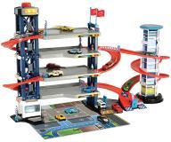 Парковка 4 уровня,  4 машинки + 1 вертолет Dickie Toys 3749008