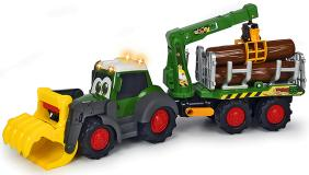 Лесовоз Happy Fendt 65 см свет звук  Dickie Toys 3819003