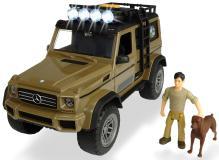 Игровой набор охотника  MB AMG 500 4x4 PlayLife 23 см свет звук  Dickie Toys 3834002