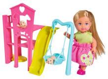 Кукла Еви 12 см с собачками набор Игровая площадка для питомцев Simba 5733074
