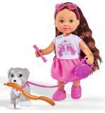 Кукла Еви 12 см из серии Holiday с собачкой и аксессуарами Simba5733272 Simba