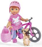 Кукла Еви 12 см на велопрогулке с собачкой Simba 5733273