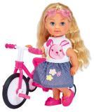 Кукла Еви 12 см на трехколесном велосипеде Simba 5733347