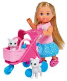 Кукла Еви 12 см на прогулке с котятами Simba 5733348
