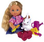 Кукла Еви 12 см в саду с питомцем Simba 5733442