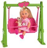 Кукла Еви 12 см на качели с собачкой Simba 5733443