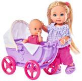Кукла Еви 12 см с малышом на прогулке 2 вида Simba 5736241