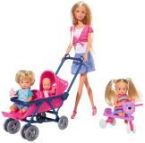 Кукла Штеффи с детьми и принадлежностями 29 см Simba 5736350