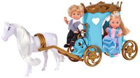 Кукла Еви 12 см и Тимми в карете Simba5738516