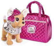 Плюшевая собачка 20 см Chi-Chi love Гламур с розовой сумочкой и бантом Simba 5893125