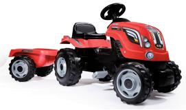 Трактор педальный XL с прицепом красный Smoby 710108