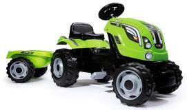 Трактор педальный XL с прицепом зеленый Smoby 710111