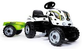 Трактор педальный XL с прицепом пятнистый Smoby 710113