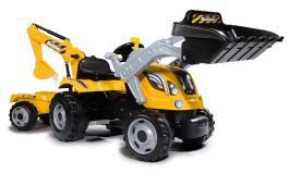 Трактор педальный строительный с 2-мя ковшами и прицепом Smoby 710301