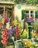 Картина по номерам 40х50см, Цветник у дома Schipper 9130632