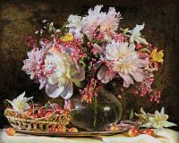 Картина по номерам 40х50см, Букет цветов с вишней Schipper 9130773