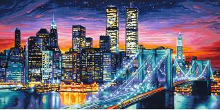 Картина по номерам 40х80 см, Ночной Манхеттен Schipper 9220369
