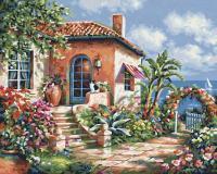 Картина по номерам 24х30см, Загородный дом на море Schipper 9240795