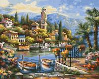 Картина по номерам 24х30см, На озере Комо Schipper 9240798