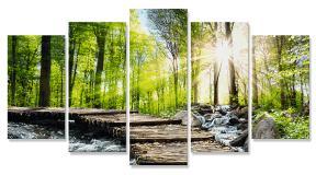 Картина по номерам Полиптих Горный поток, 132х72 см Schipper 9450774