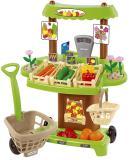 Детский магазин на колесах Органические продукты с тележкой и корзинкой для покупок Ecoiffier ECO1741