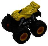 Машинка гоночная die-cast, 4*4, фрикционная, двойной реверс, желтая Funky toys FT61038