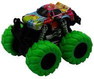 Машинка гоночная die-cast, 4*4, фрикционная,  двойной реверс, зеленые колеса Funky Toys FT61041