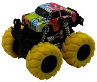 Машинка гоночная die-cast, 4*4, фрикционная, двойной реверс, желтые колеса Funky Toys FT61042