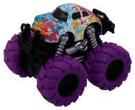 Машинка гоночная die-cast, 4*4, фрикционная,  двойной реверс, фиолетовые колеса Funky Toys FT61043