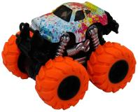 Машинка гоночная die-cast, 4*4, фрикционная, двойной реверс, оранжевые колеса Funky Toys FT61044