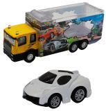 Набор грузовик + машинка die-cast  белая, спусковой механизм, 1:60 Funky toys FT61050