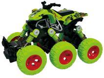 Квадроцикл die-cast 6*6, 18 см, инерционный механизм, рессоры, , зеленый Funky toys FT61066
