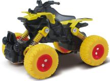 Квадроцикл die-cast, инерционный механизм, рессоры, желтый,  1:46 Funky toys FT61070