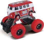 Автобус die-cast, инерционный механизм, рессоры, красный, 1:46 Funky toys FT61076