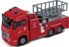 Пожарная машина с подъемным механизмом, кабина die-cast, инерционный механизм, свет, звук, 1:43 Funky toys FT61078