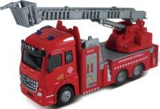 Пожарная машина с выдвижной лестницей, кабина die-cast, инерционный механизм, свет, звук, 1:43 Funky toys FT61079