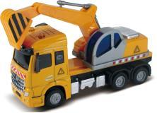 Экскаватор, кабина die-cast, инерционный механизм, свет, звук, 1:43 Funky toys FT61080