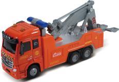Дорожная техника, кабина die-cast, инерционный механизм, свет, звук, оранжевый, 1:43 Funky toys FT61085