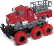 Пожарная машина с с подъемным механизмом с краш-эффектом, кабина die-cast, фрикционная, 6*6, 1:43 Funky toys FT61093
