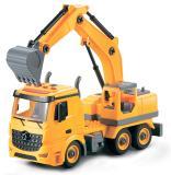Экскаватор-конструктор, фрикционный, свет, звук, 1:12 Funky toys FT61111