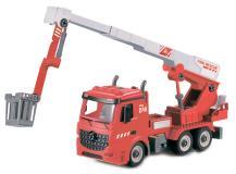 Пожарная машина-конструктор с выдвижной стрелой, фрикционная, свет, звук, 1:12 Funky toys FT61113