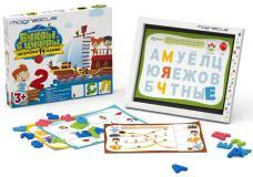 Игровой набор Буквы и Цифры в картонной коробке Magneticus  POL-010
